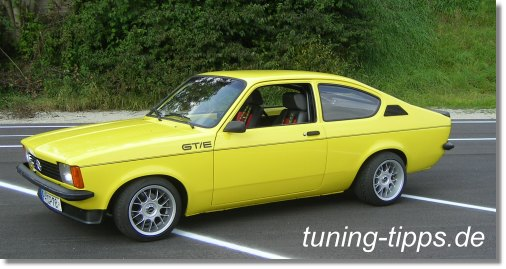 tuning tipps opel kadett c coupe 2 0 l gte. Black Bedroom Furniture Sets. Home Design Ideas